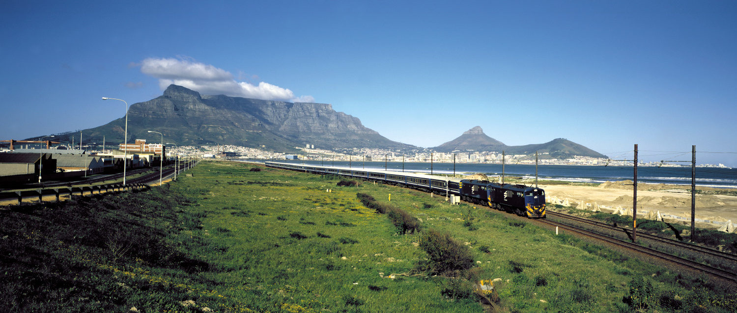 Blue Train out of Cape Town