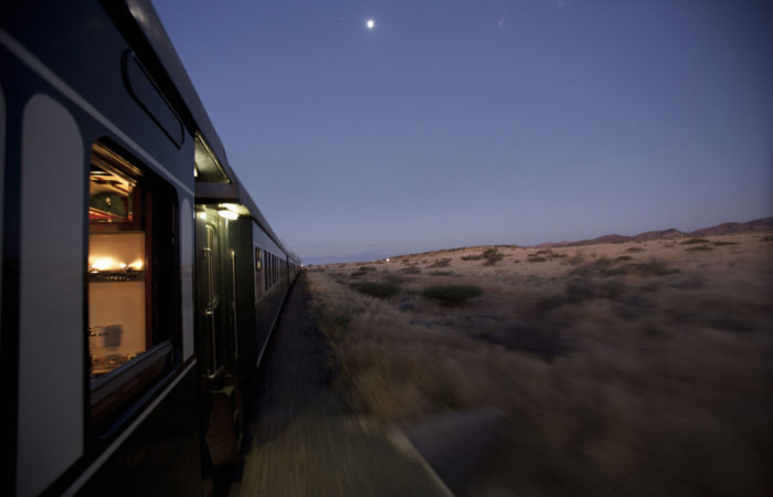 Rovos Rail, desert evening