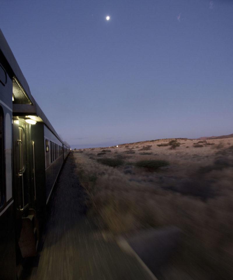 Rovos Rail, desert evening