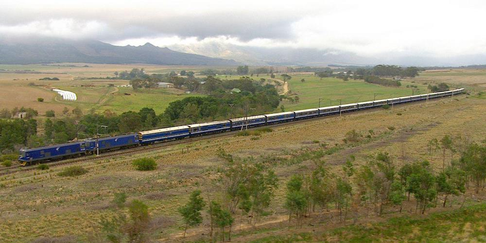 The blue train aerial view