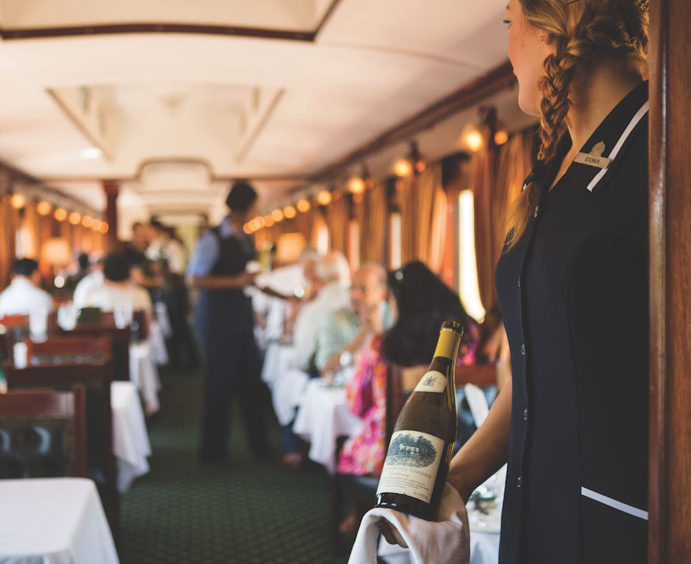 Wine on board the Rovos