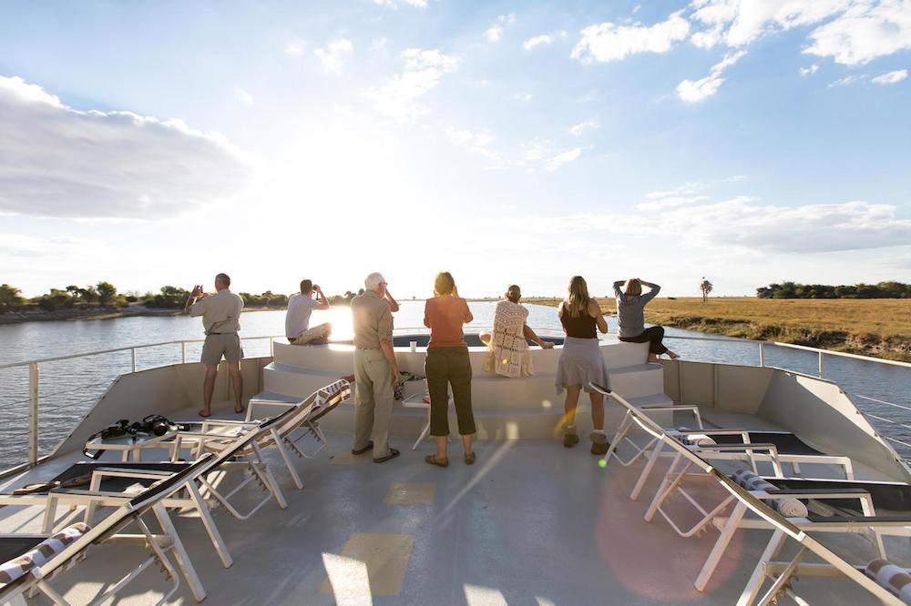Top deck onboard the zambezi queen