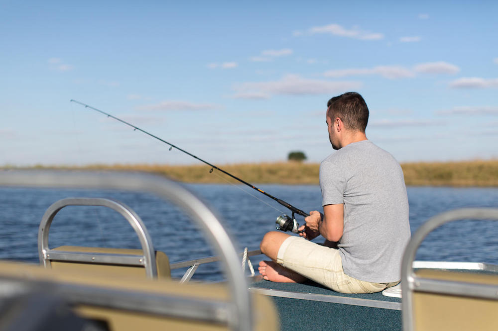 fishing on Chobe