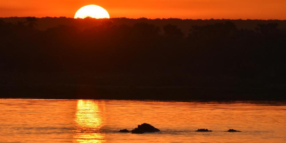 sunset botswana
