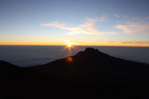 sunset at Mt. Kilimanjaro