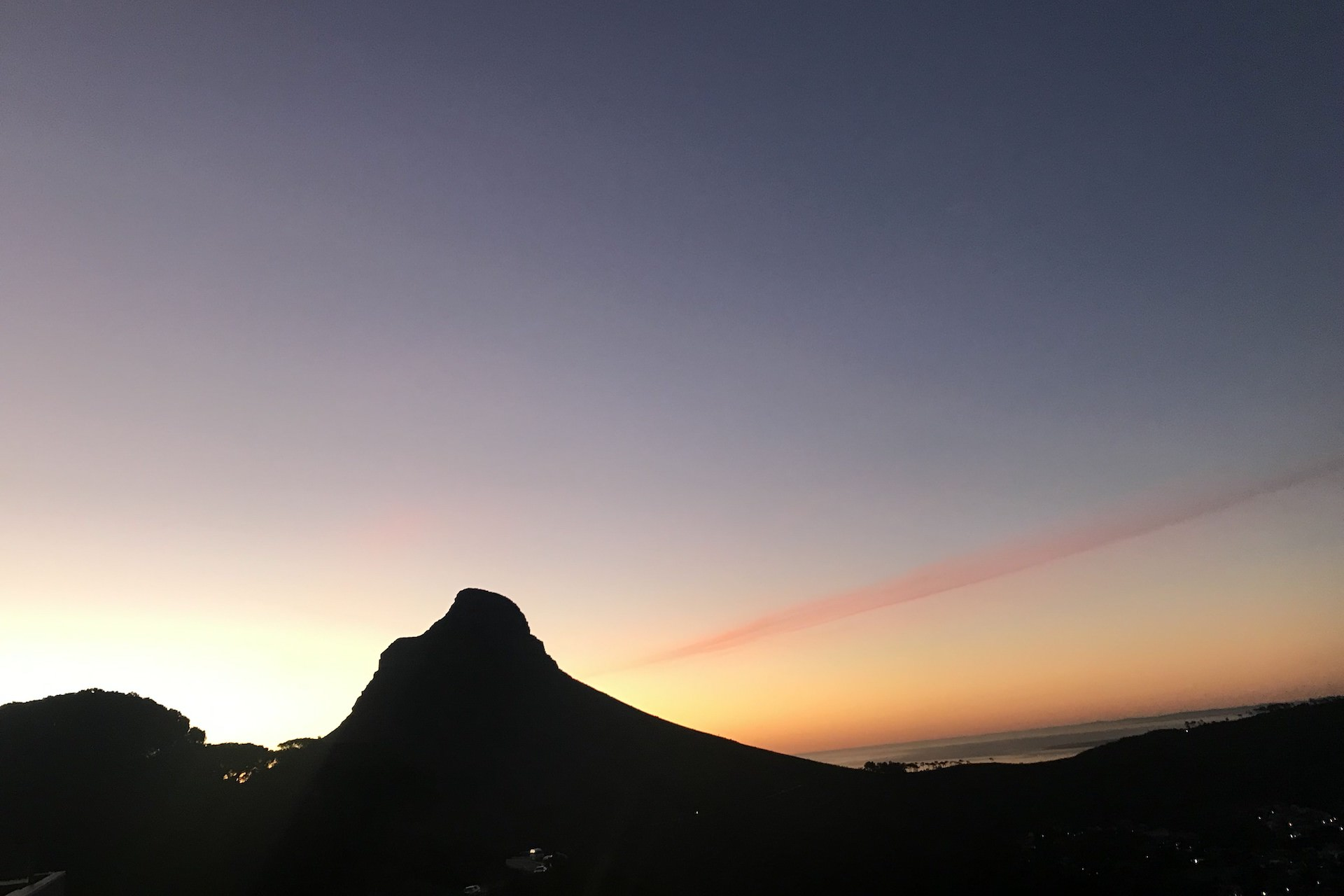 sunset from table mountain