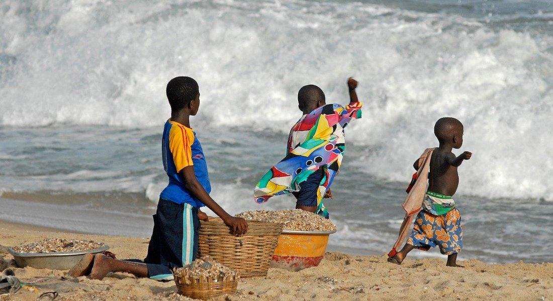 kids playing in ghana