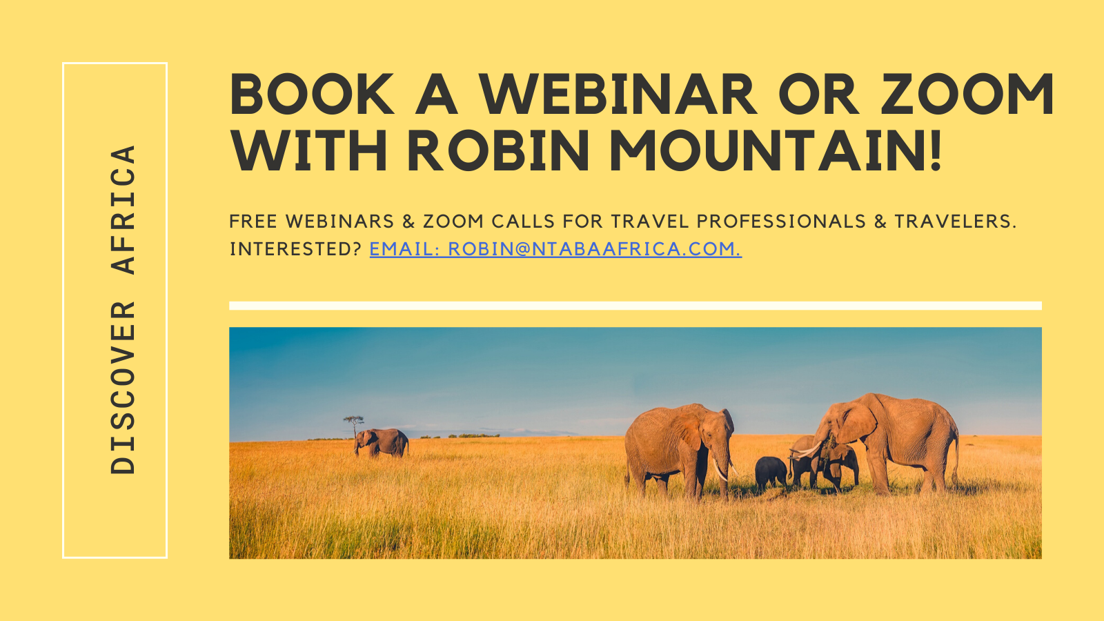 WEBINAR WITH ROBIN