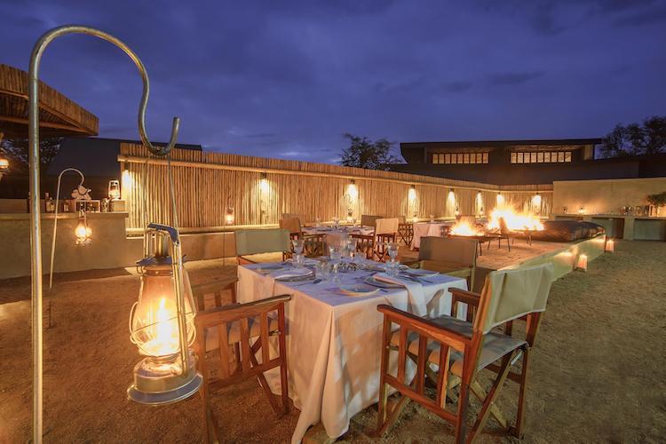 Becks Safari Lodge restaurant karongwe