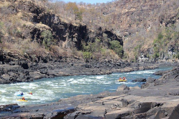 white water rafting zambia